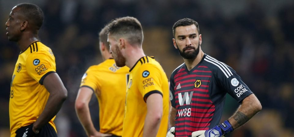 Wolves fans weren't happy with Rui Patricio's performance against Newcastle