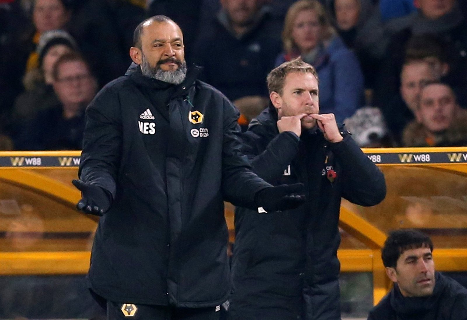 Wolverhampton Wanderers manager Nuno Espirito Santo's comical gesture during the Tottenham defeat