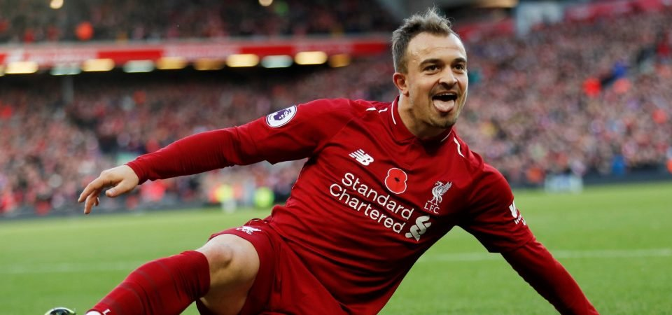 Klopp could end up forcing Shaqiri out the door if chances at Liverpool continue to be limited