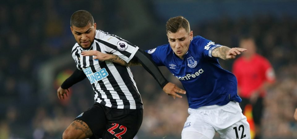 Everton fans bash Digne's Newcastle display