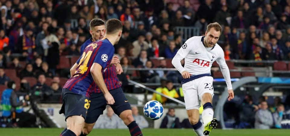 Revealed: 73% of Tottenham fans think club can keep Eriksen