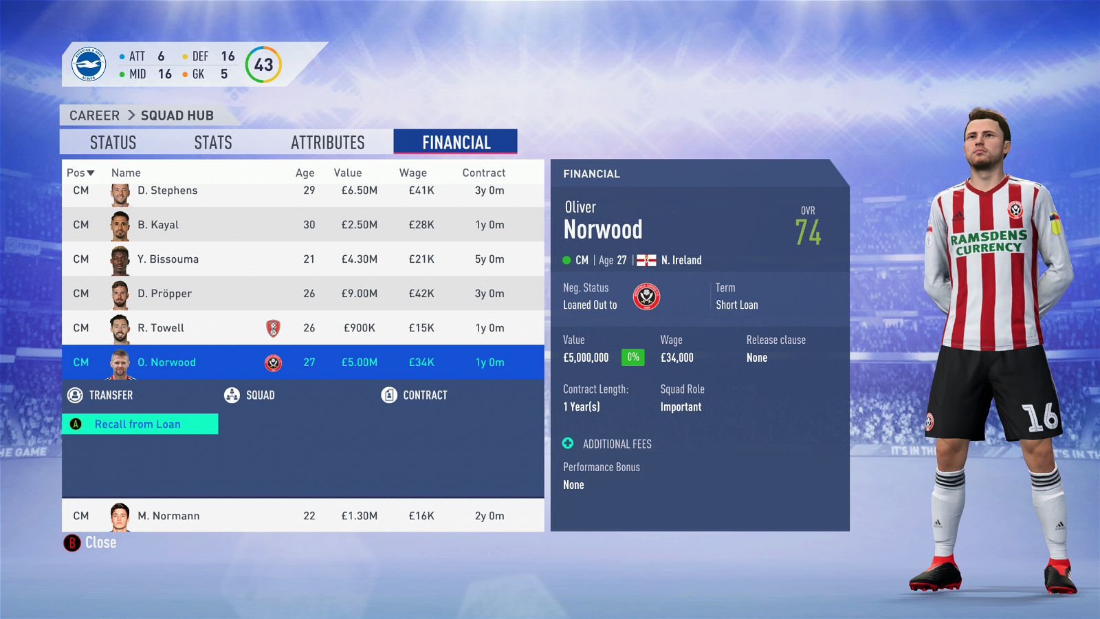 FIFA 19 Career Mode - Brighton Norwood