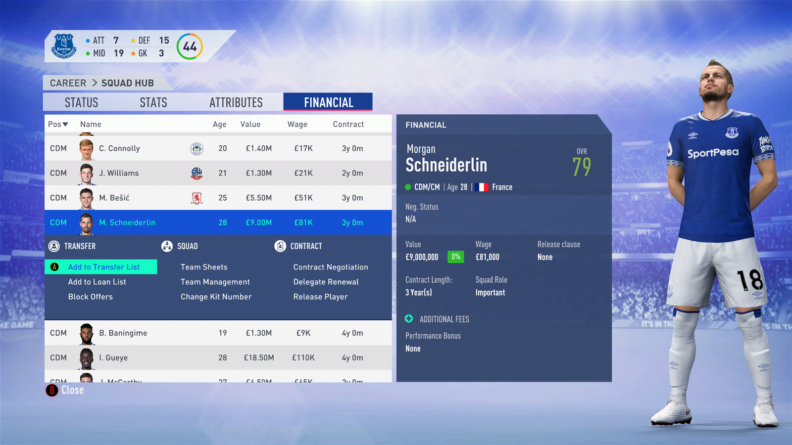 FIFA 19 Career Mode - Everton Schneiderlin
