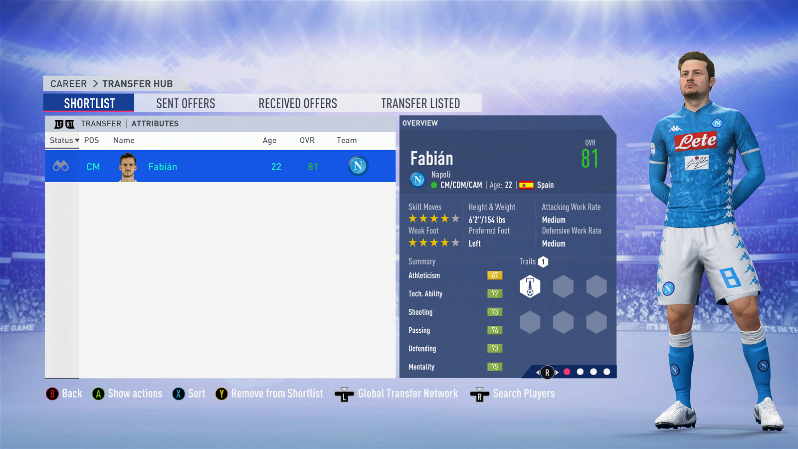 FIFA 19 Career Mode - Manchester United Fabian