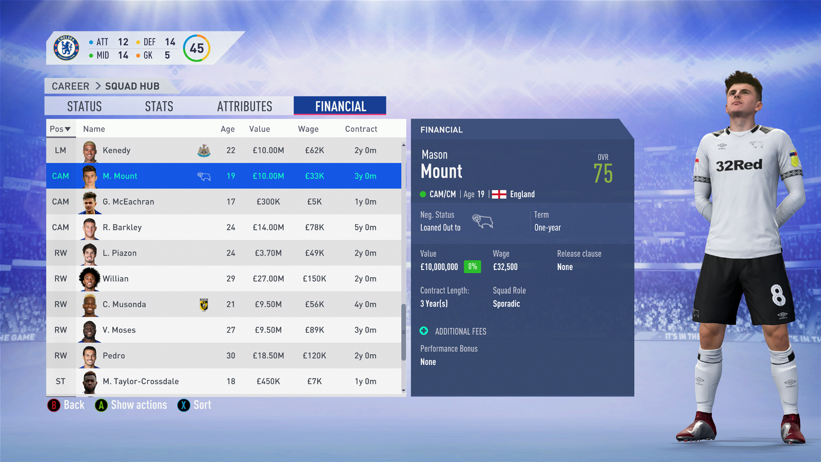FIFA 19 - Chelsea Career Mode - Mason Mount