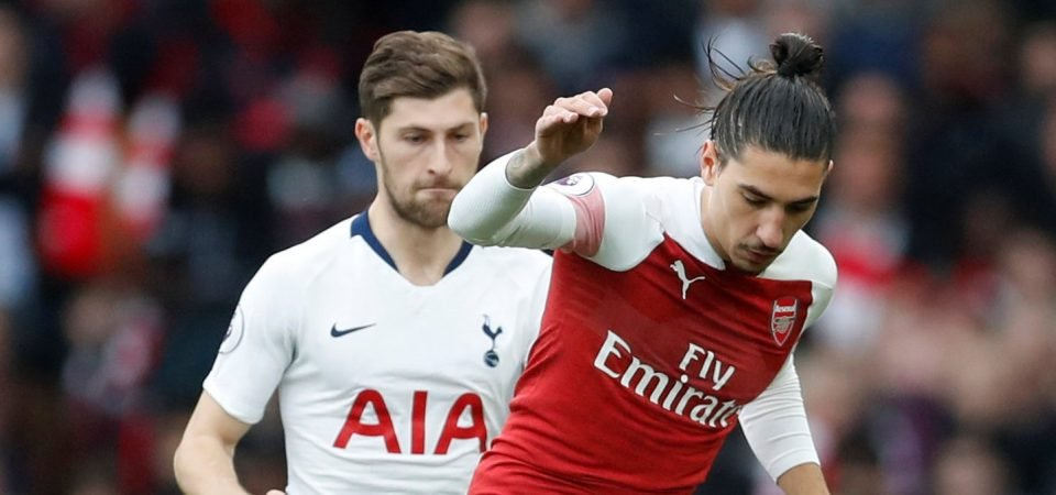 Arsenal fans were delighted with Hector Bellerin's display against Spurs