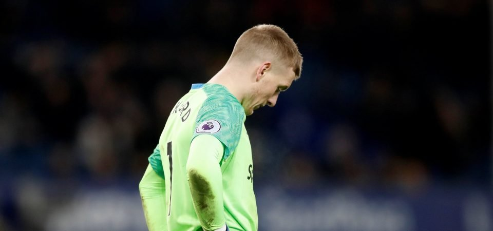 Everton fans blast Pickford display vs Tottenham