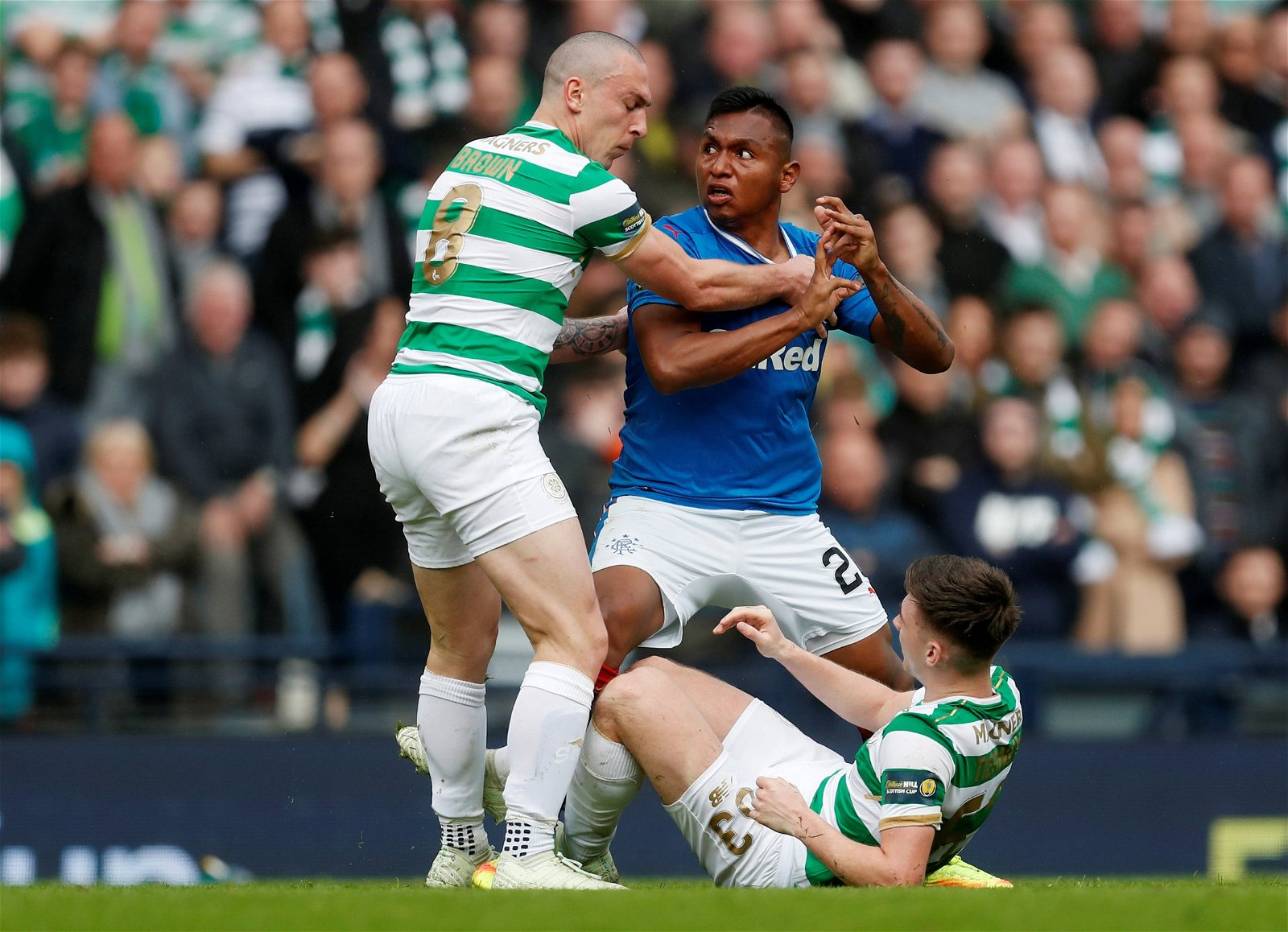 Morelos clashes with Scott Brown