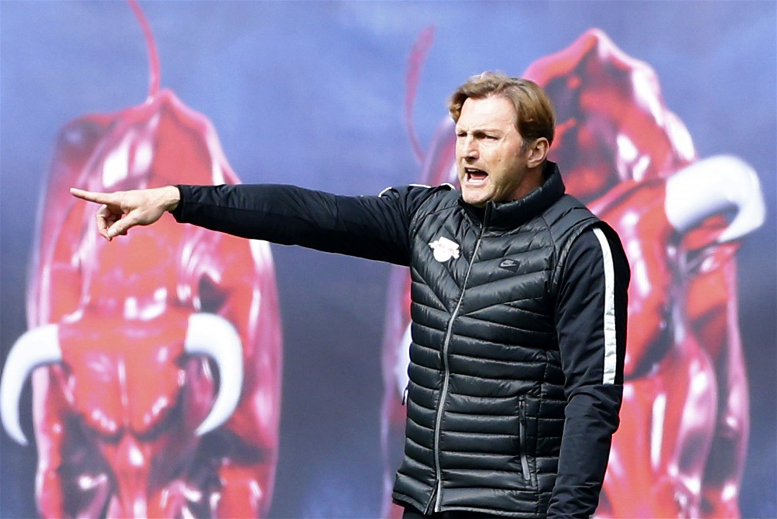 RB Leipzig manager Ralph Hasenhuttl gestures