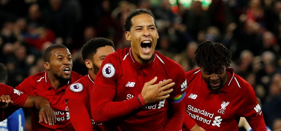 Van Dijk crowned PFA Player of the Month, fans react