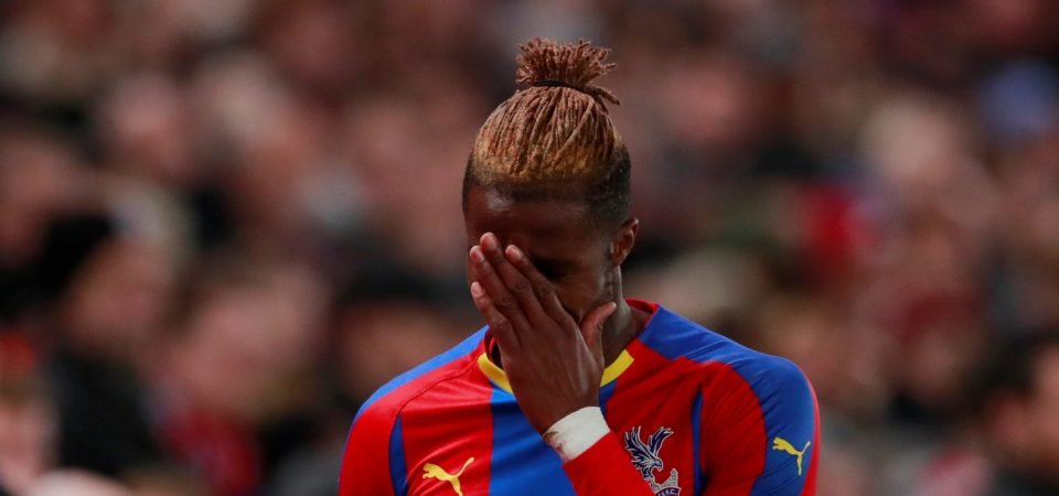 West Ham fans react as Wilfried Zaha is available to play against them