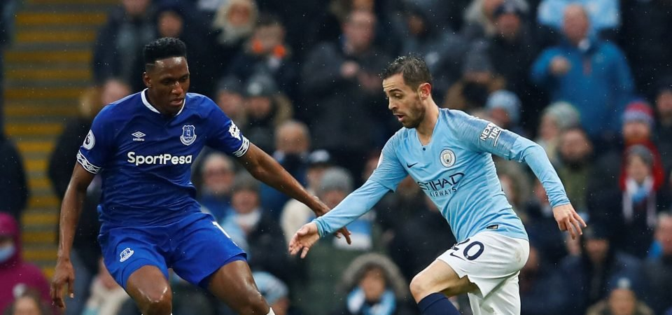 Everton fans blast Mina display vs Man City