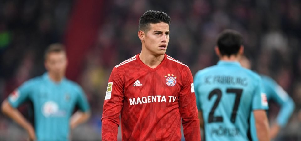 Arsenal initiate contact with marquee loan target James Rodriguez