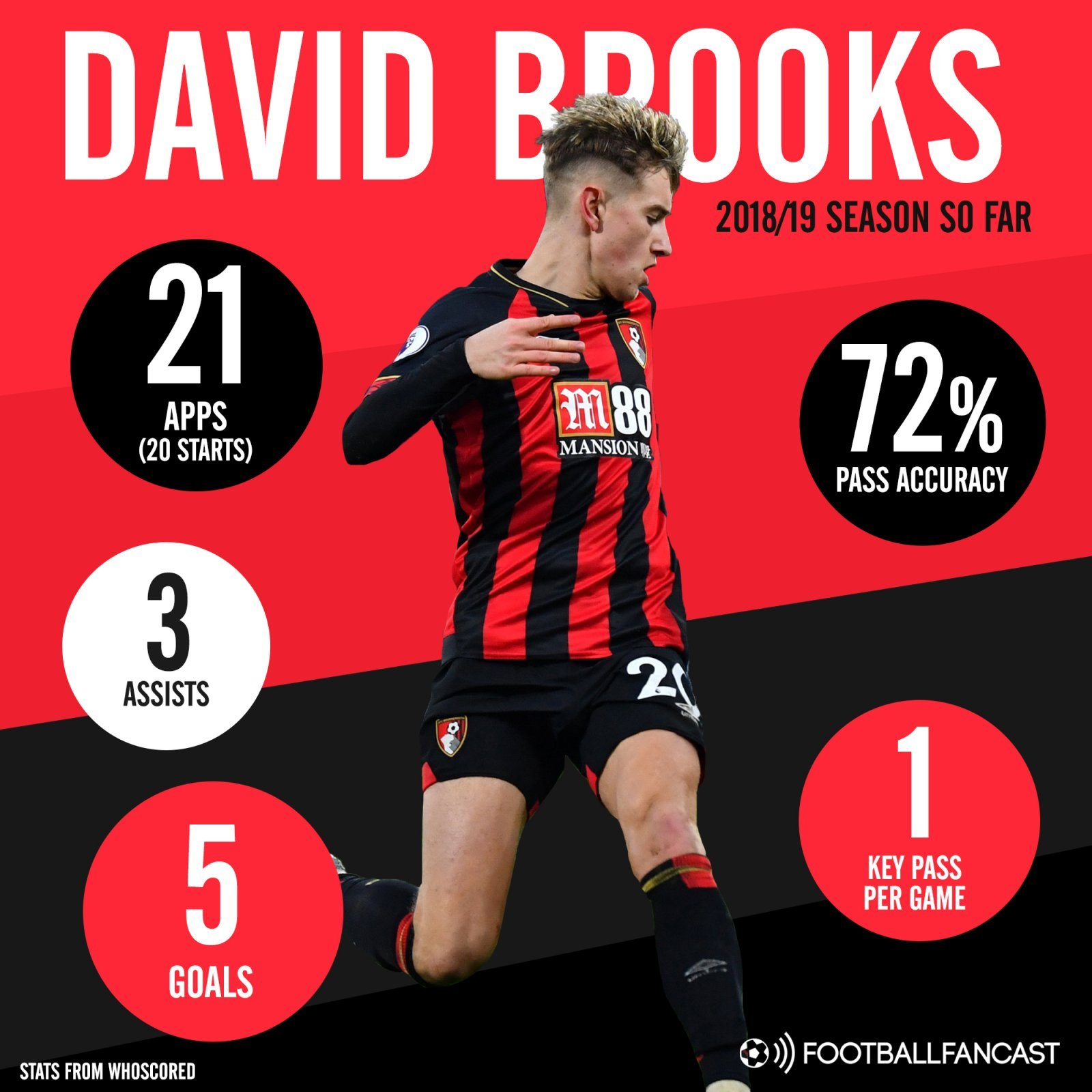 Bournemouth attacker David Brooks 2018 19 season stats so far - Bournemouth's summer gamble has completely paid off - opinion