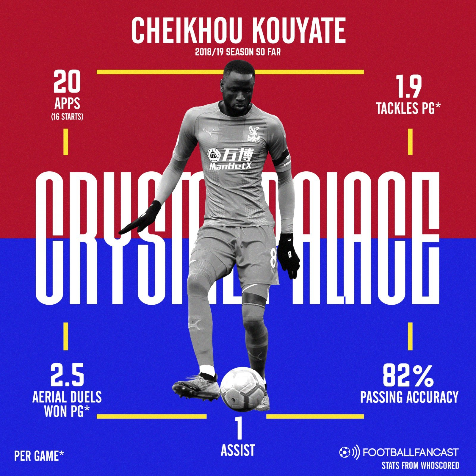 Cheikhou Kouyate 2 - Five statistics that prove Crystal Palace got a bargain with this signing - opinion