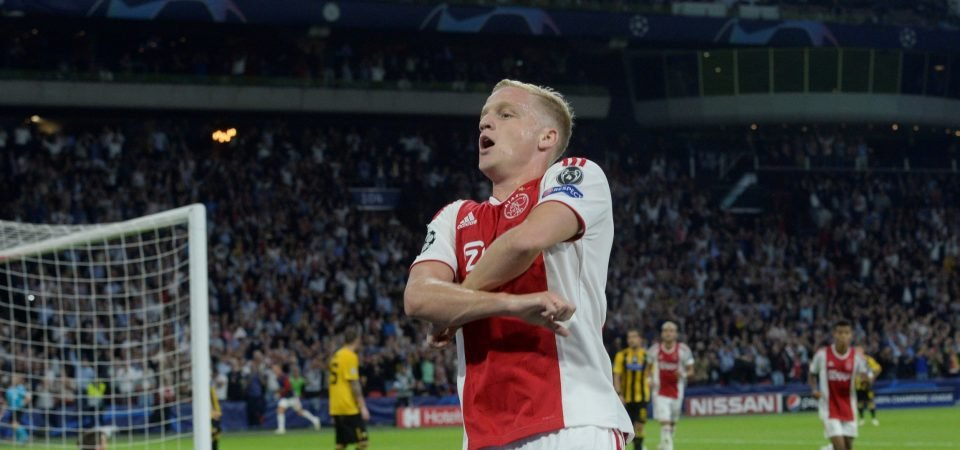 Spurs in running for Ajax youngster Van de Beek