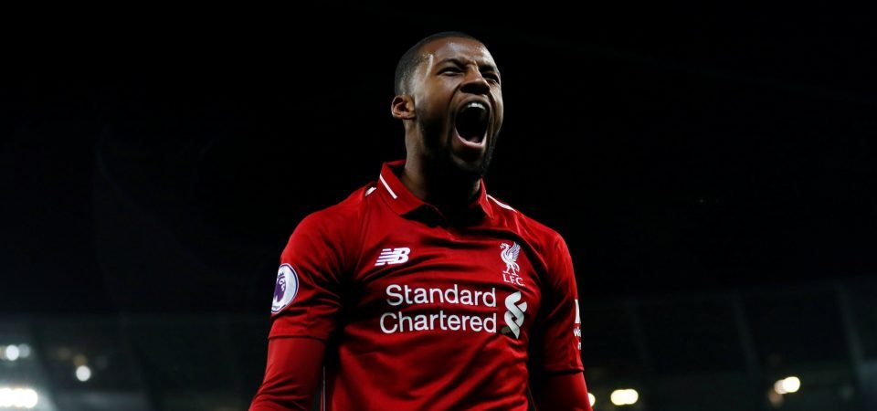 Liverpool fans loved Wijnaldum's display vs Bournemouth