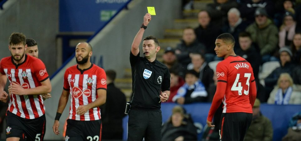 Southampton fans react on Twitter after Jan Valery is sent off against Leicester