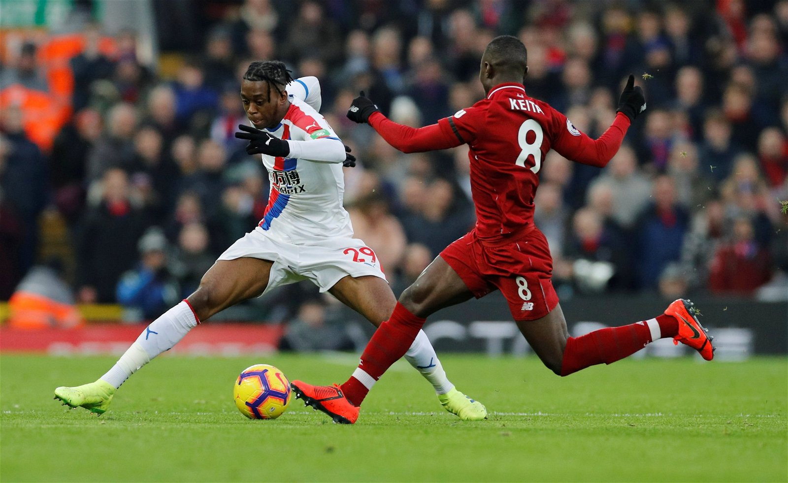 Keita in action against Crystal Palace