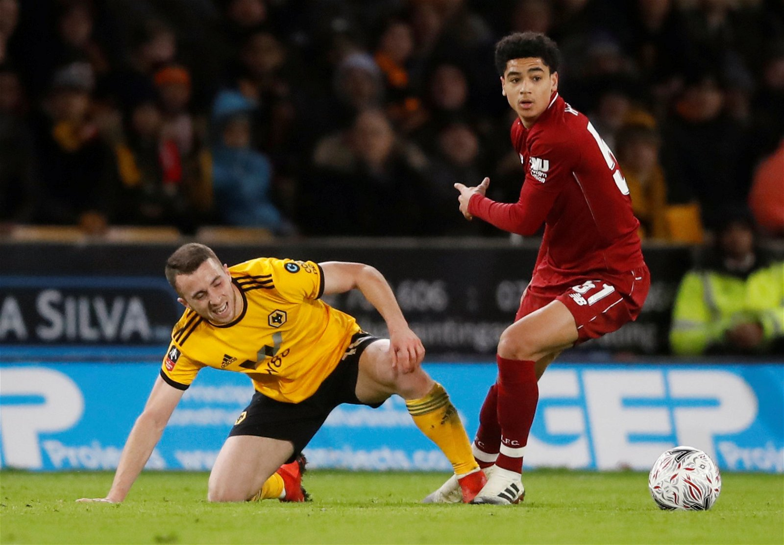 Ki-Jana Hoever in action against Wolves