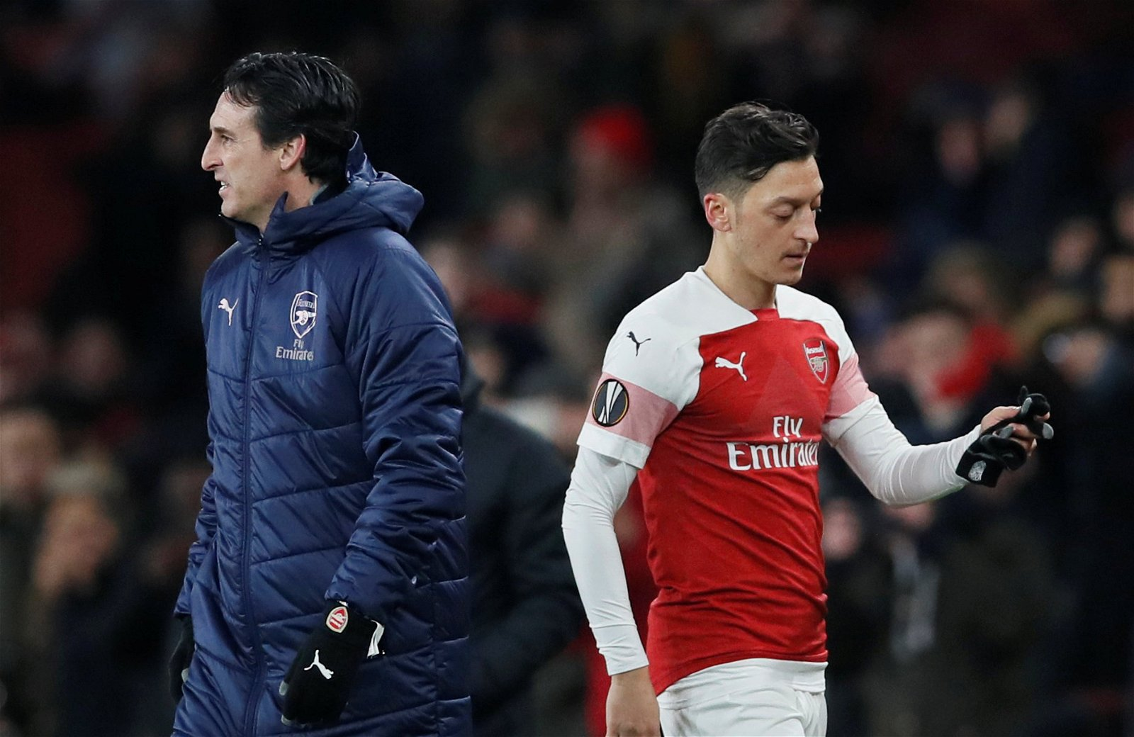 Manager Unai Emery and Mesut Ozil Arsenal vs Qarabag - The bigger picture: a long road still lays ahead of Arsenal and Unai Emery