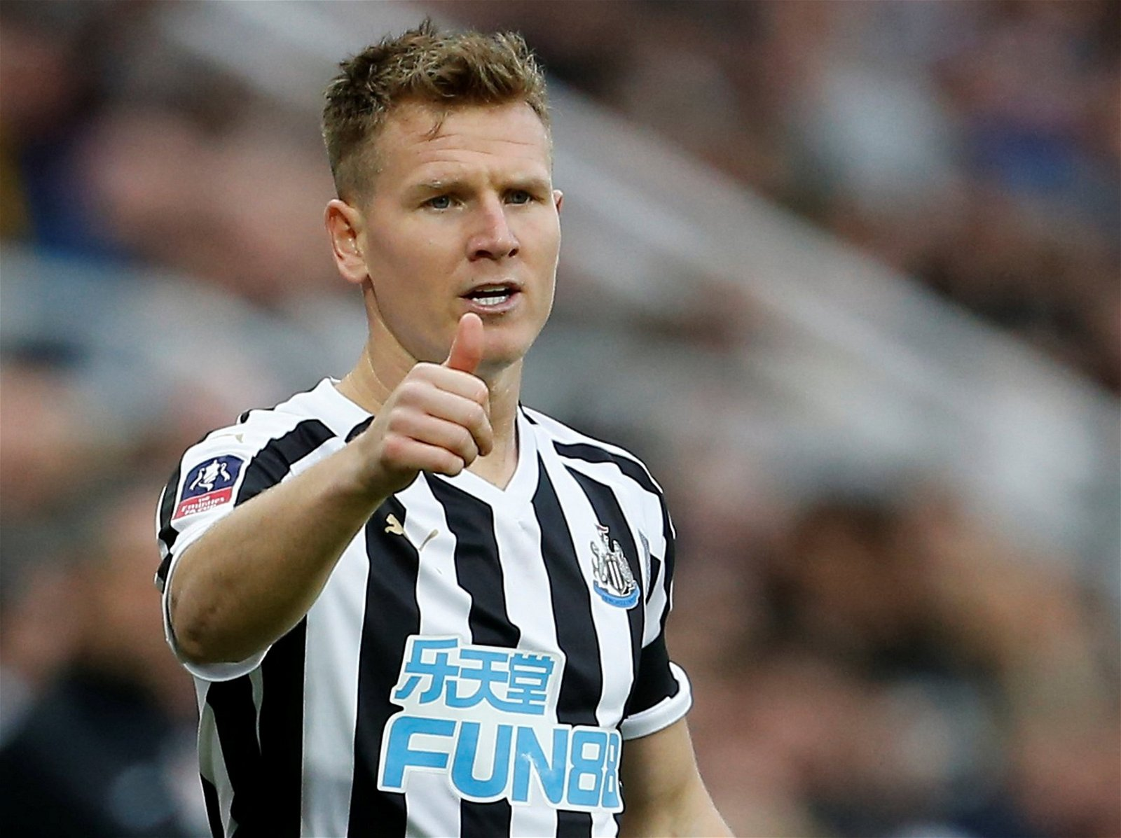 Matt Ritchie with a thumbs up