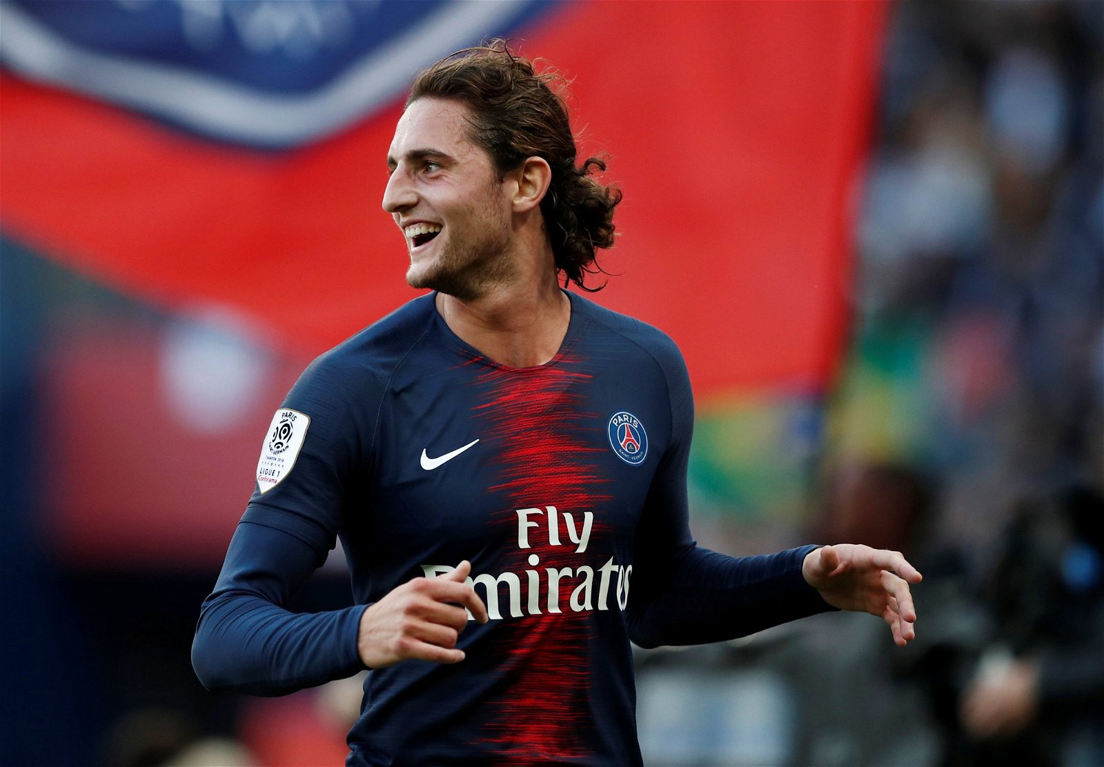 Paris St Germains Adrien Rabiot celebrates scoring their 2nd goal v Amiens SC - £25.2m-rated ace, Ramsey replacement: Perfect signings for Arsenal's reported transfer plans