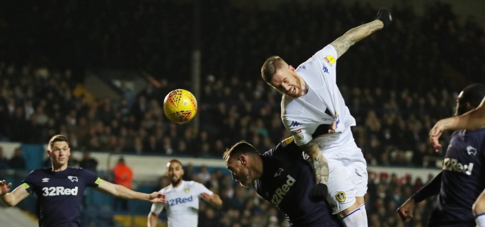 Leeds fans were delighted with Pontus Jansson's performance against Derby County