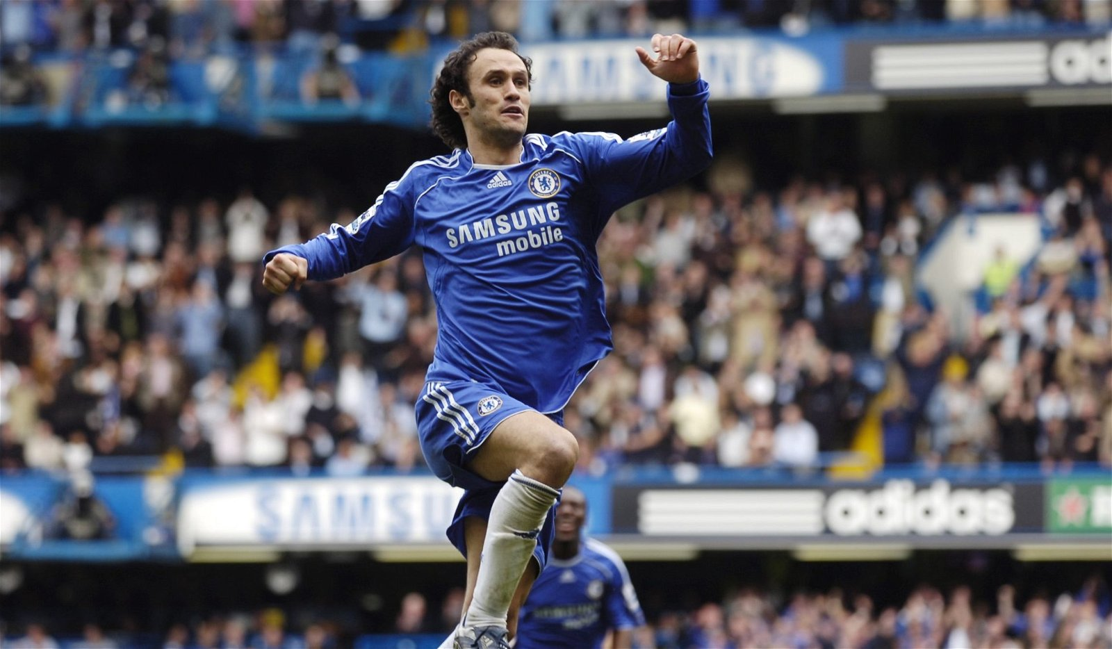Ricardo Carvalho celebrates scoring against Tottenham