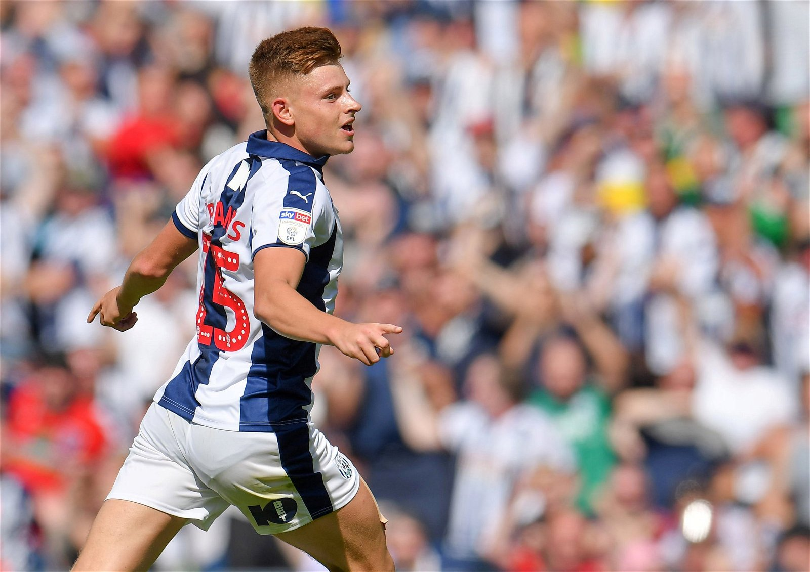 West Broms Harvey Barnes celebrates scoring their goal vs Bolton - Promotion secured, Robson-Kanu benched: Aftermath of potential Baggies swoop for creative star