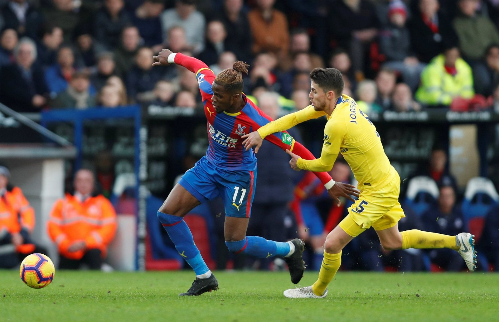 2018 12 30T132828Z 1071035118 RC120CF74D60 RTRMADP 3 SOCCER ENGLAND CRY CHE - Beautiful Boots: Ranking the eye-catching footwear on show at Crystal Palace this season