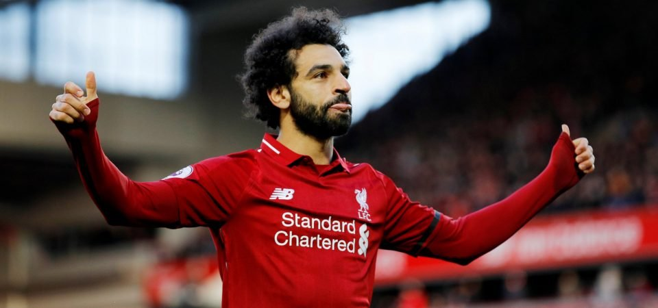 Obsessed: Liverpool fans react after a Man City fan bizarrely rants about Salah