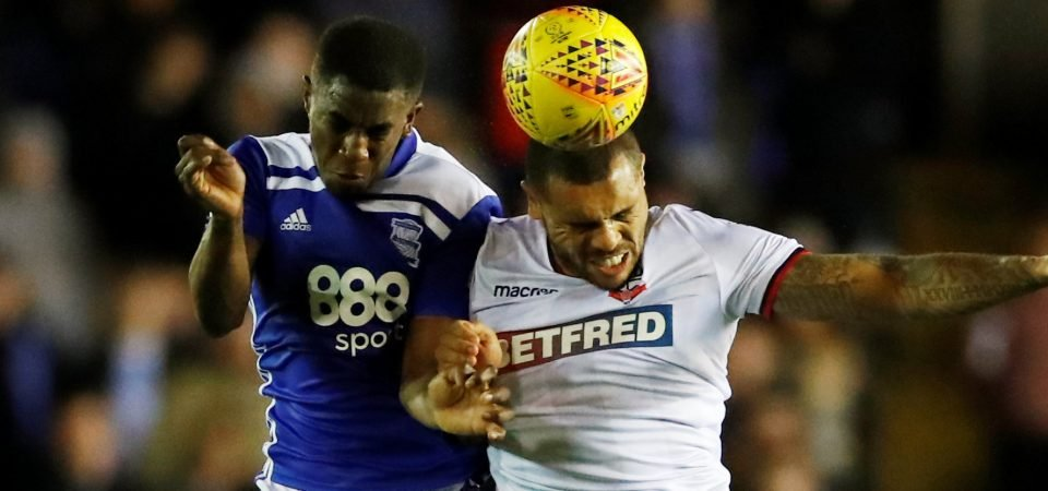 Birmingham City fans were fuming with Wes Harding against Bolton Wanderers