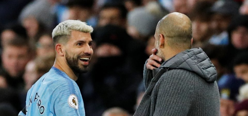 Manchester City fans laud Sergio Aguero after he hit a hat-trick against Chelsea