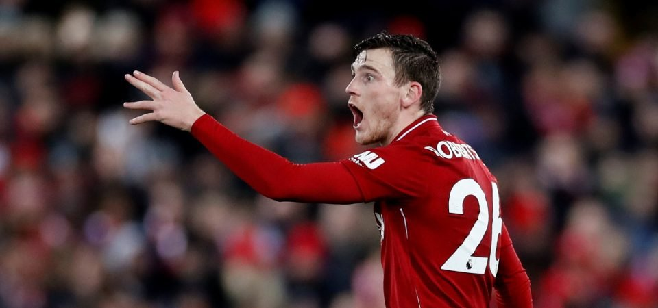 Liverpool fans concerned by poor Robertson performances