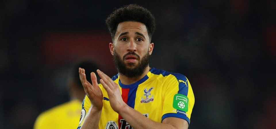 Crystal Palace fans react after Andros Townsend wins the club's player of the month award