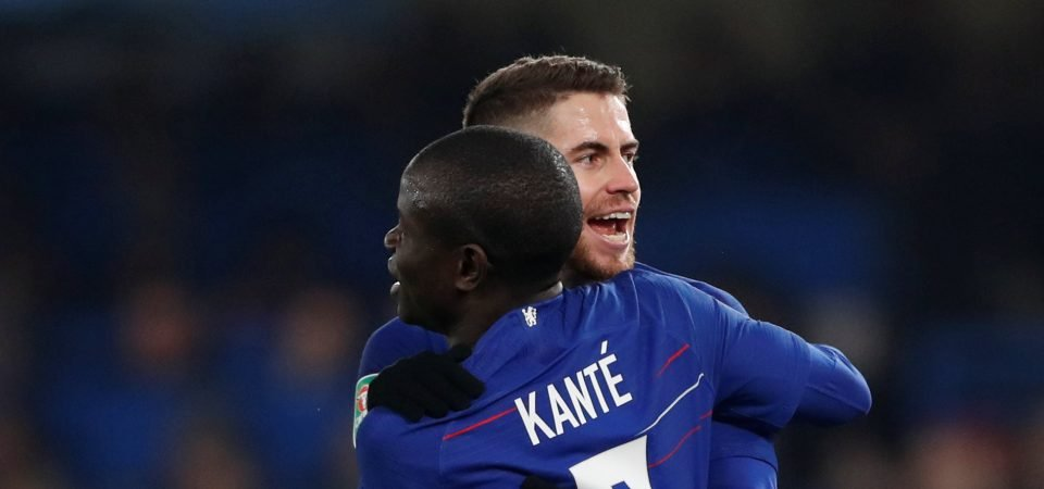 Maurizio Sarri says Jorginho needs help in midfield; N'Golo Kante should be fuming