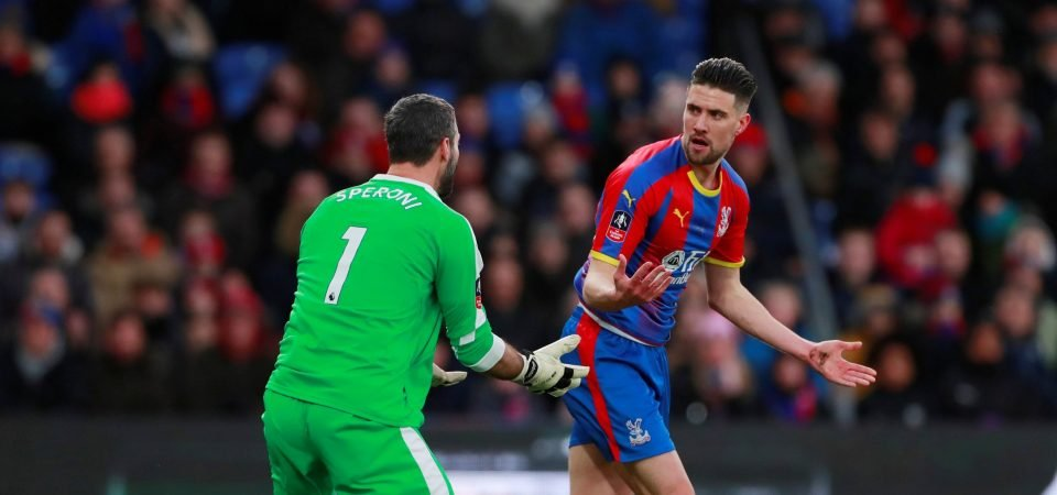 Crystal Palace fans react after Martin Kelly signs a new contract