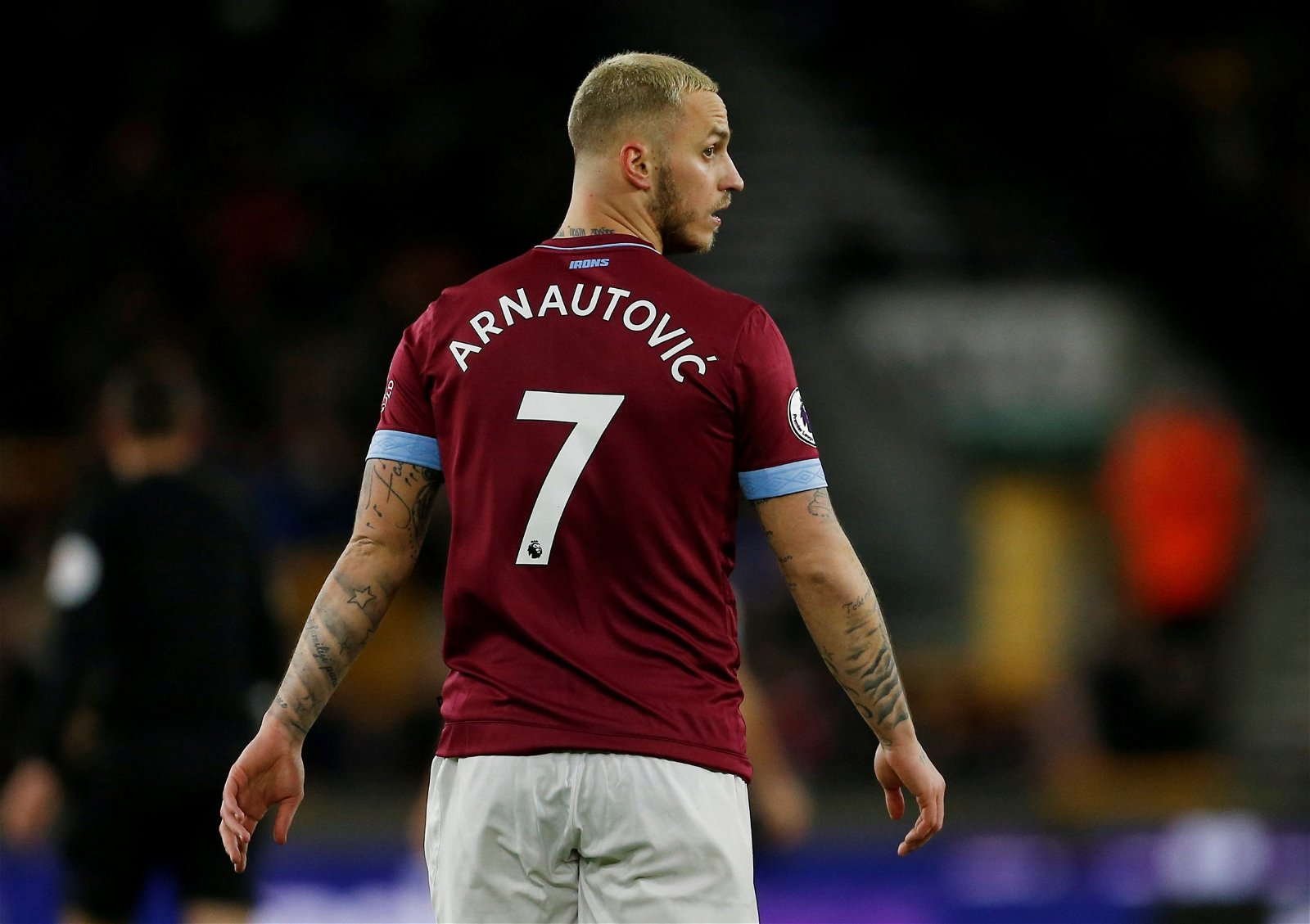 Marko Arnautovic turns his back