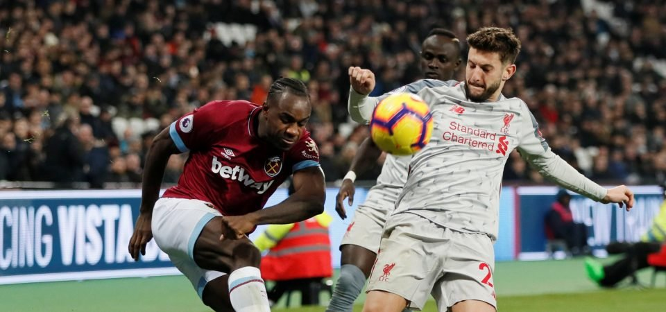 West Ham fans loved Michail Antonio's performance v Liverpool