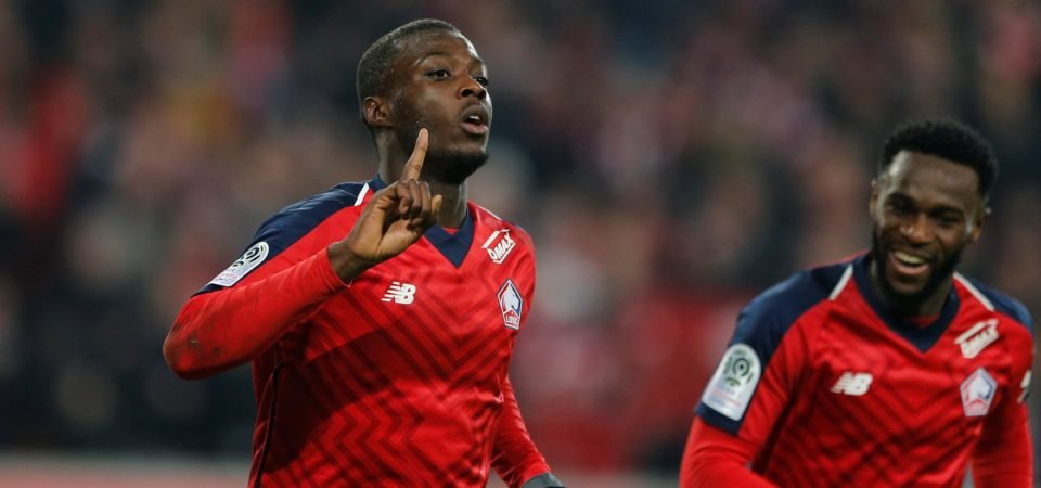 Liverpool fans respond to Arsenal's transfer move for Nicolas Pepe