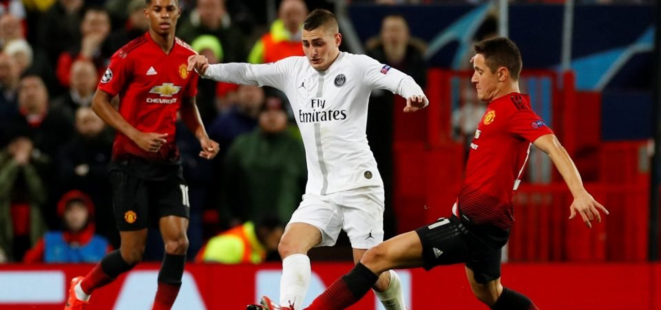 Liverpool fans react to Marco Verratti display in PSG win vs Man United