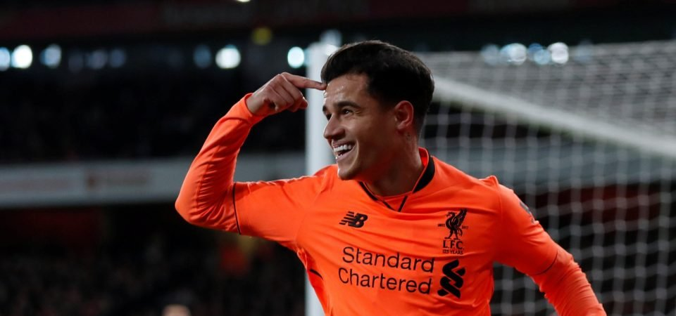 Paul Merson says Liverpool are missing Coutinho