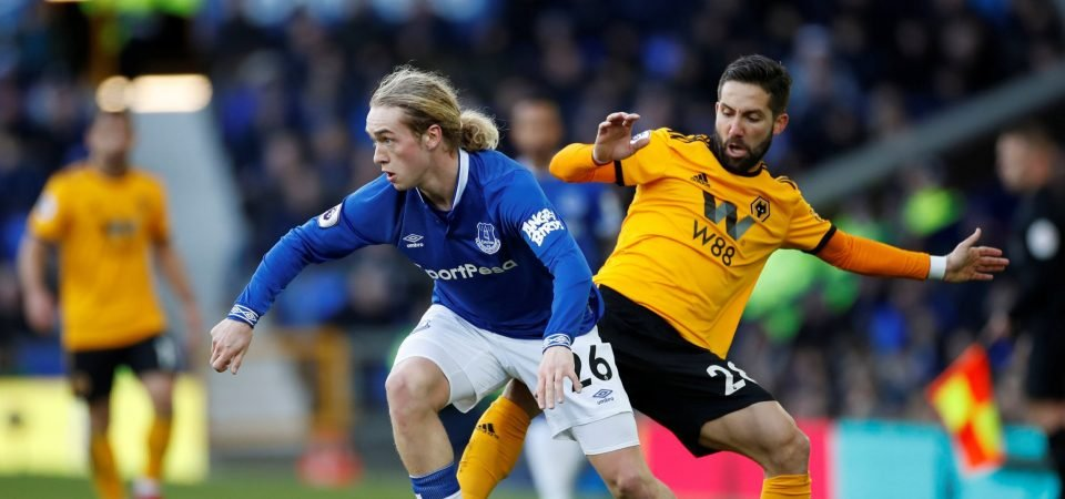 Everton fans keen to see Tom Davies start against West Ham United