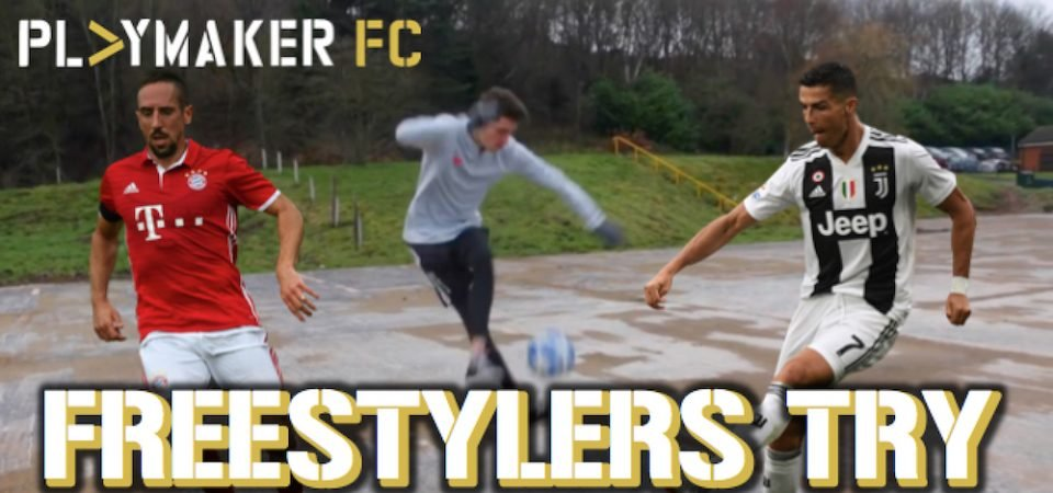 Watch: Freestylers try footballers' hardest skills