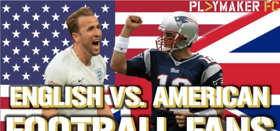 Watch: The difference between English & American football fans