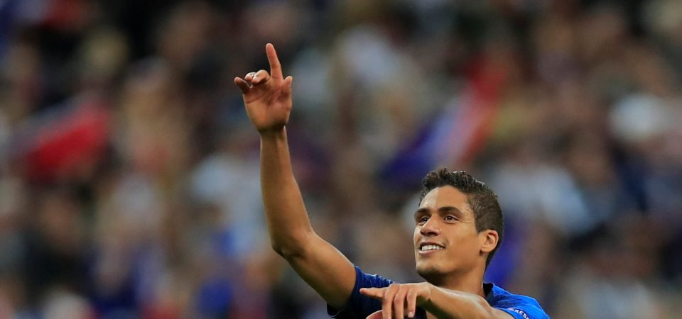 Manchester United handed boost in their pursuit of Raphael Varane