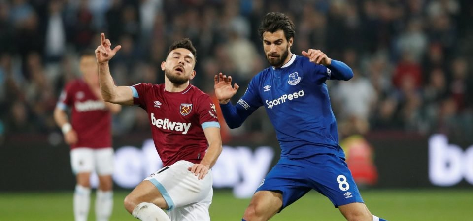 Sheer class: Everton fans were impressed with Andre Gomes against West Ham