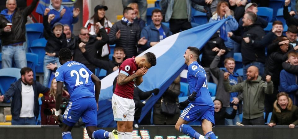 West Ham fans blast Fredericks performance vs Cardiff