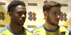 Tough to take: Ross Gleed and Farai Tsingano share their thoughts after the loss to Harleston Town